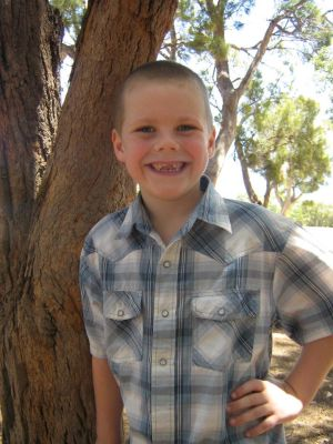 My eldest son, Aaron, who is now almost 8y/o, This photo was taken at Christmas, 2012